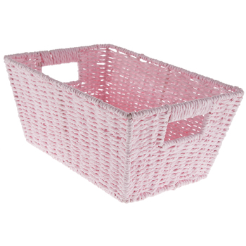 Pink Rectangular Paper Basket